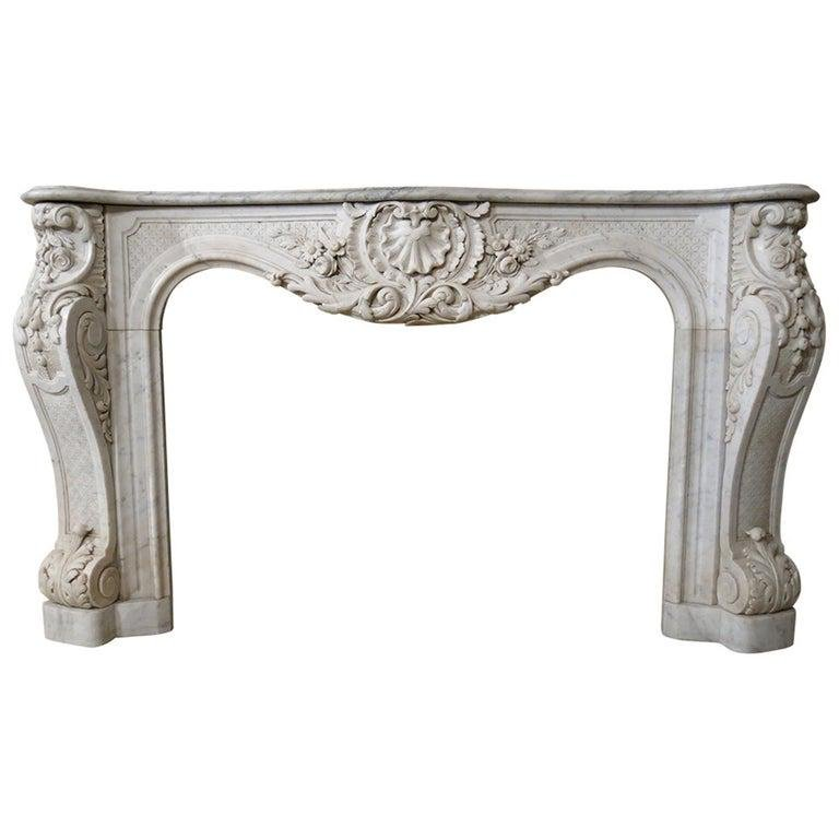 French embassy quality fireplace marble Paris 1800s