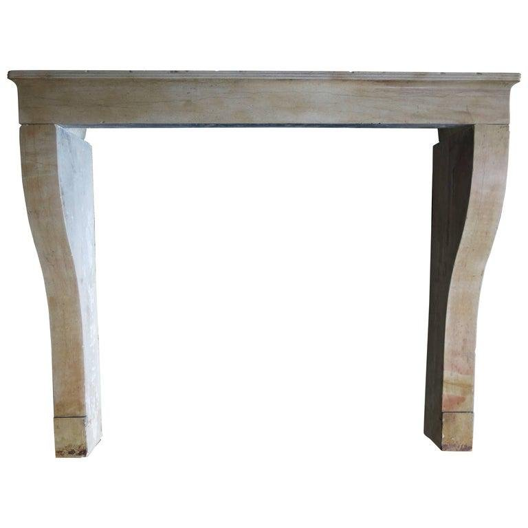 French Classical antique stone fireplace Paris 19thC