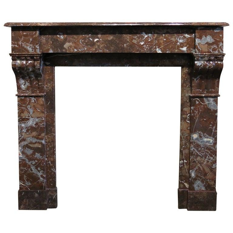 French antique marble fireplace Napoleon III Paris 1860