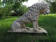 Renaissance Lion statue after A. Canova 20thC France