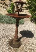 French antique birds bath fountain in iron 19thC France