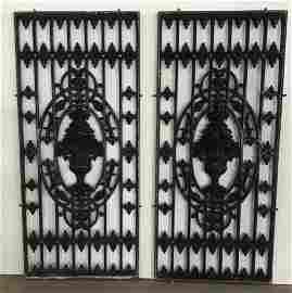 2 French antique iron gates Deco 1800s Paris France