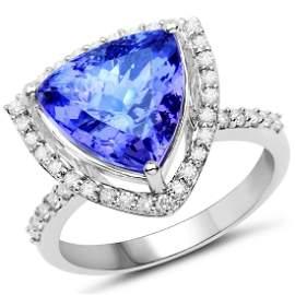 6ct Tanzanite 14K White Gold Ring