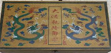 Vintage Painting in Qianlong Made Wooden Box