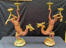 Qianlong Made pair Of Inaly Star Ruby and Green Jade