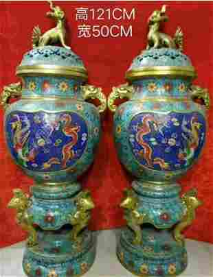 Qing Dynasty from the old collection [Dragon and