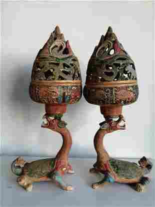 Bronze painted art work This item is beautiful in
