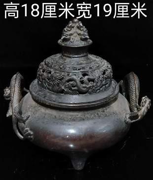 treasure true copper incense burner, mellow patina,