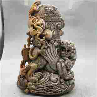 Shoushan stone animal statue ornaments and the weight