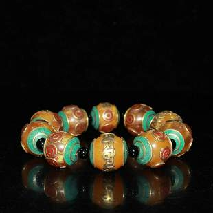 Nepalese reflux beeswax bracelet ornaments with fine