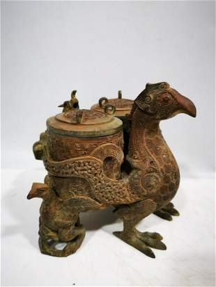 Bronze Bird Statue of the Spring and Autumn Period and