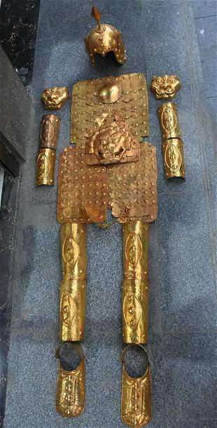 An Old Collection Armor Set of Qing Dynasty Generals