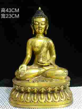 Gilt bronze in the Yongle Year of the Ming