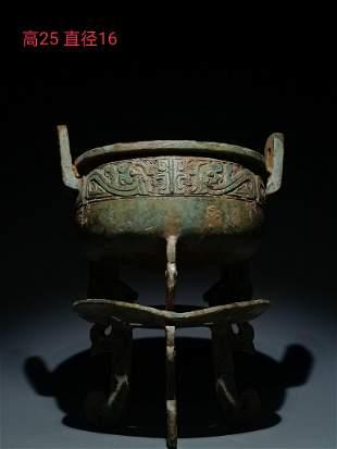Western Zhou Dynasty Wen Ding with phoenix bird pattern