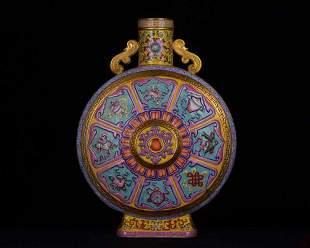 Qing Dynasty Qianlong imperial multicolored enamel