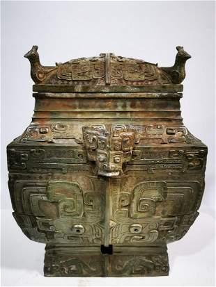 Shang and Zhou Dynasty gluttonous bronze four-bird