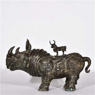 Western Zhou Dynasty Bronze with Kuilong Pattern. Cow