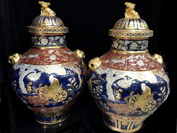 A very rare pair of  Yuan Dys blue and white glaze red