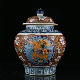Ming Yongle, cloisonné enamel, lotus, lion and