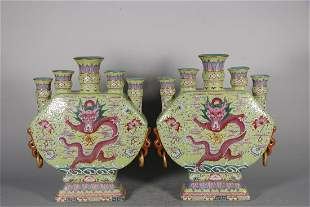 Pair of Qianlong Period of the Qing Dynasty: Greenland