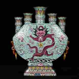 Qing Dynasty, Qing Dynasty, Qing Dynasty, Green Enamel,