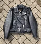 Vintage Womens Black Leather Motorcycle Jacket Small