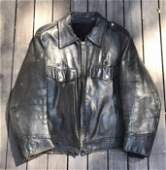 Vintage Motorcycle Jacket with Image by Keith Haring