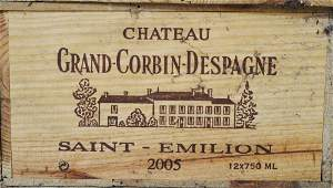 Twelve bottles of Chateau Grand Corbin Despagne
