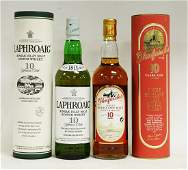 Two bottles of whisky Laphroaig 10 years old single