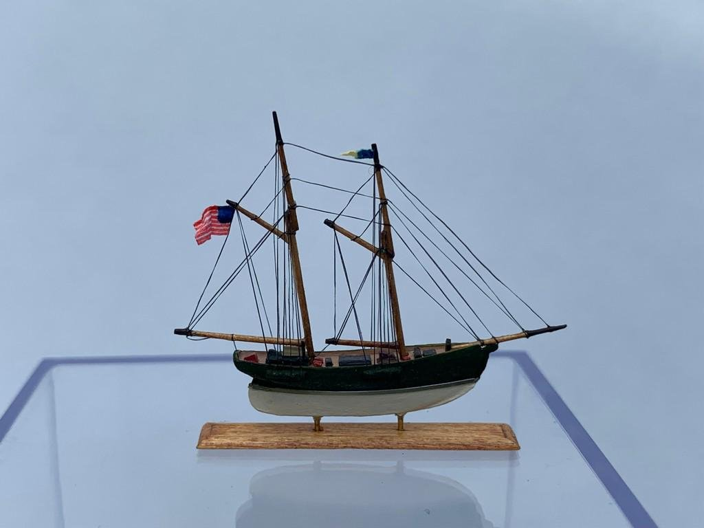 Hand Crafted Model Ship By Robert Shea