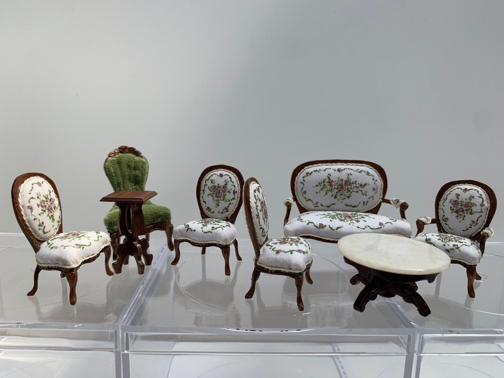 """1/2"""" Scale Nancy Summers 6 pc Settee & Chairs Lot"""