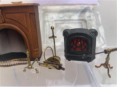 1 2 Fireplace Lot W English Br Fire Tools