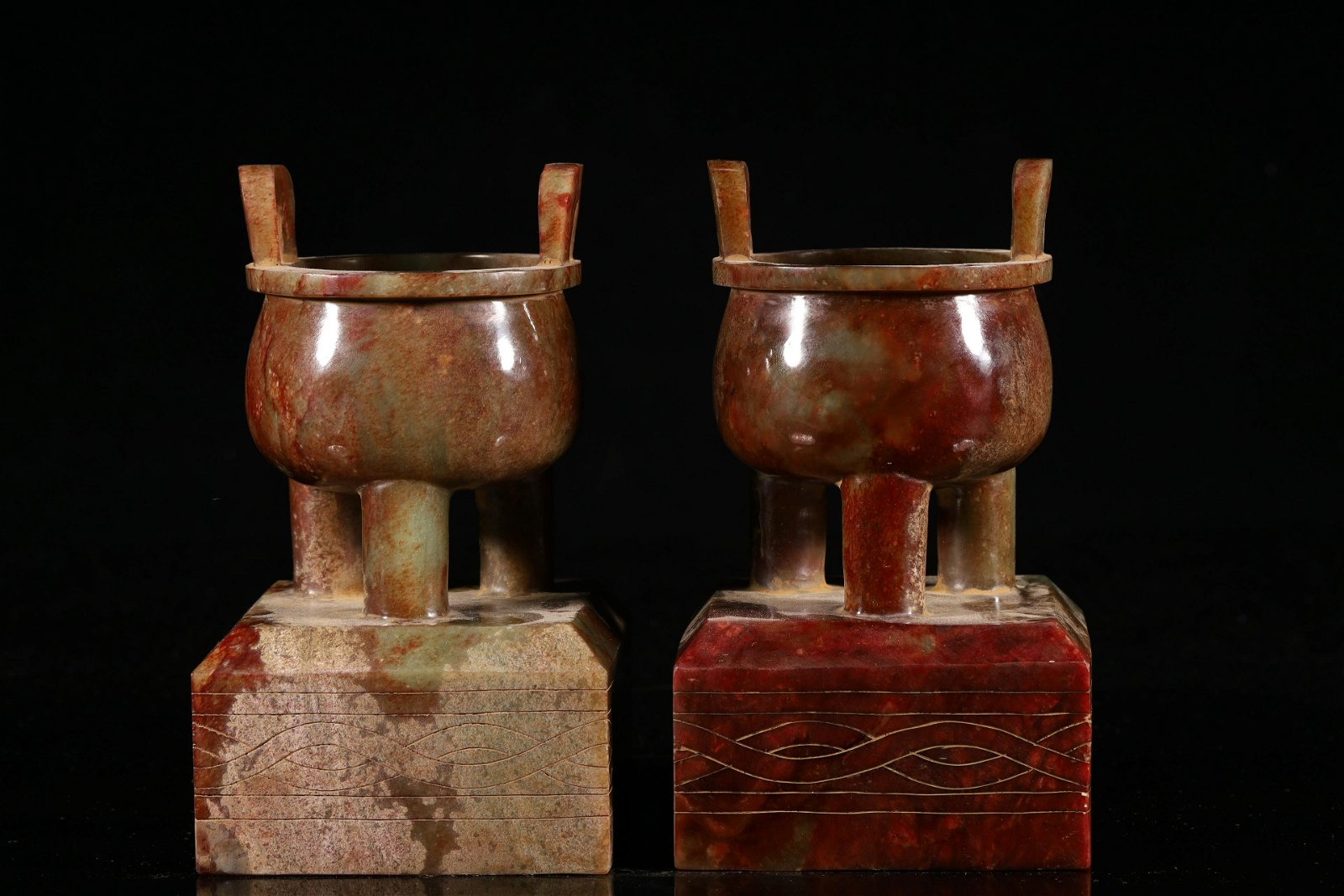 A Rare and Fine Pair of Ancient Jade Breaker Pattern