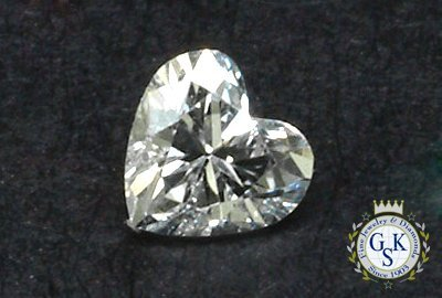 1016: 2.02 CT H SI2 HEART  NATURAL CERTIFIED DIAMOND