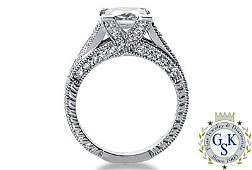2277R: 1.66 CT K VS2 PRINCESS GIA DIAMOND SOLITARE RING