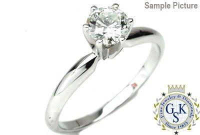 1000: 1.55 CT H SI2 ROUND ENGAGEMENT DIAMOND RING