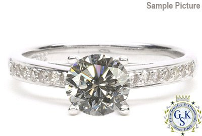 1001: 1.44 CT SI1 ROUND DIAMOND SOLITARE RING W/CERT