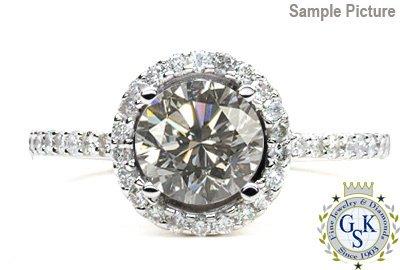 1004: 1.45 CT J SI2 ROUND ENGAGEMENT DIAMOND RING