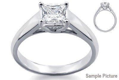 1009: 1.69 CT J VS2 PRINCESS DIAMOND SOLITARE RING