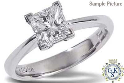 1027: 2.53 CT SI2 PRINCESS ENGAGEMENT DIAMOND RING