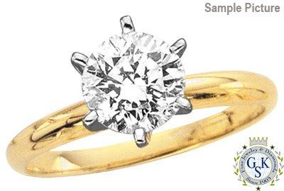 1033: 1.05 CT E SI2 ROUND DIAMOND SOLITARE RING W/CERT