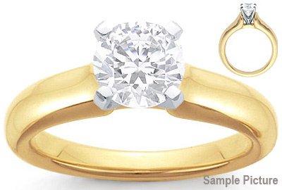 1049: 1.18 CT F SI1 ROUND CERTIFIED DIAMOND RING W/CERT