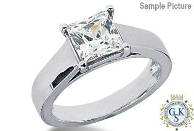 1050: 1.2 CT J VS2 PRINCESS ENGAGEMENT DIAMOND RING
