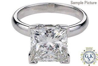 1052: 2.02 CT G SI2 PRINCESS DIAMOND SOLITARE RING