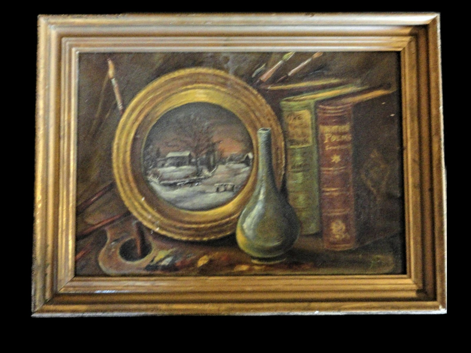 Victorian Still Life, O/C, Signed S A and  in Verso on