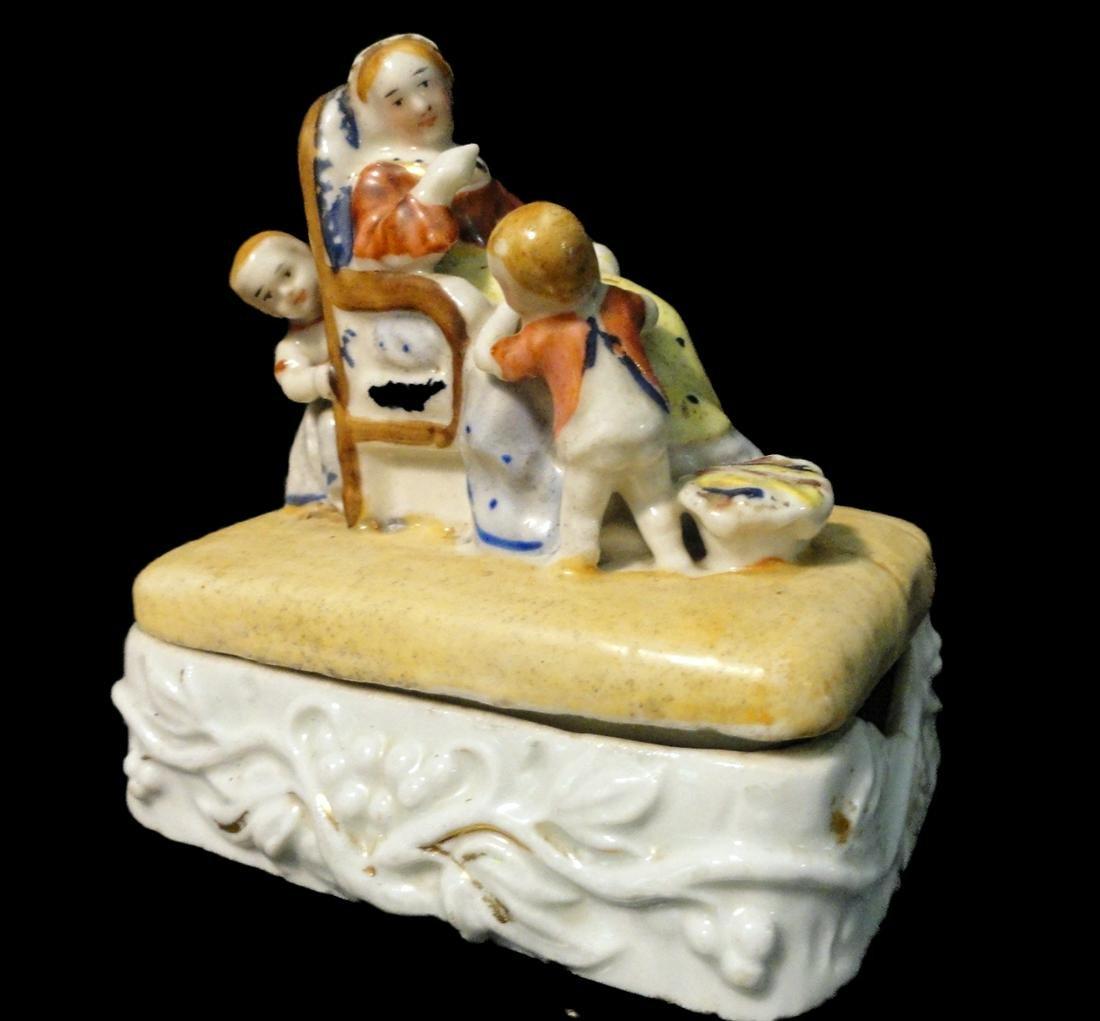 Staffordshire Fairing Box, Mother & Children