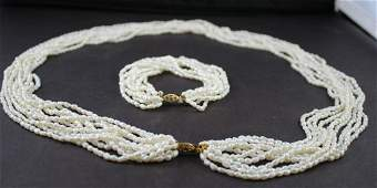 Natural Seed Pearl Set2pc