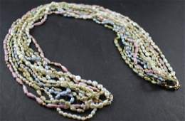 Stunning Pearl & Gold Bead Necklaces (6)
