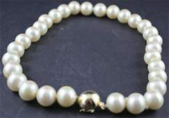 14kt & Pearl Choker Necklace