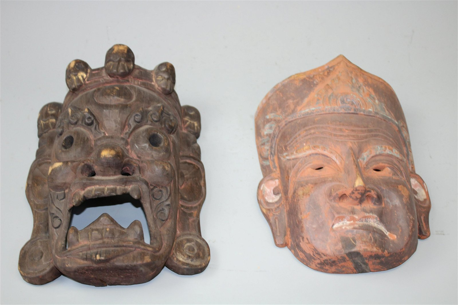 Two Wood Carved Masks